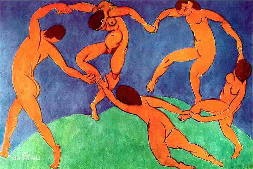 马蒂斯1910年绘画《舞蹈(The Dance)》解析