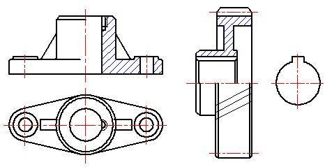 机械制图半剖视图_机械图纸剖视图的种类及画法,你都懂了吗? - 知乎