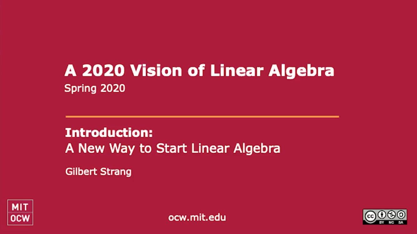 86岁还在录网课:MIT教授Gilbert Strang最新「线性代数」课程上线