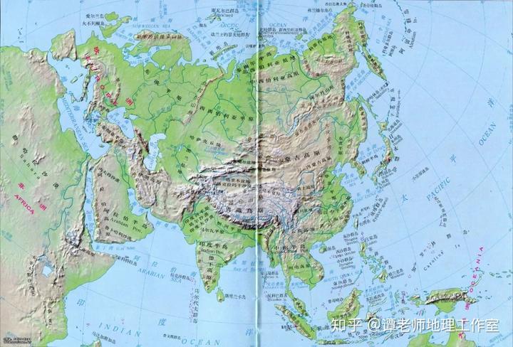 亚洲地形囹�b���_亚洲地形图