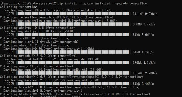 Install TensorFlow with Anaconda on Windows 10 - 知乎