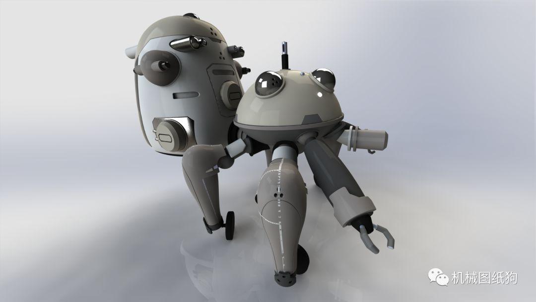 【機器人】tachikoma攻殼機動隊機器人模型造型3d圖紙