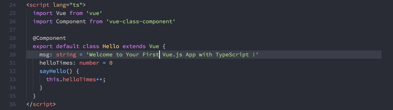 Vue + TypeScript 尝鲜体验