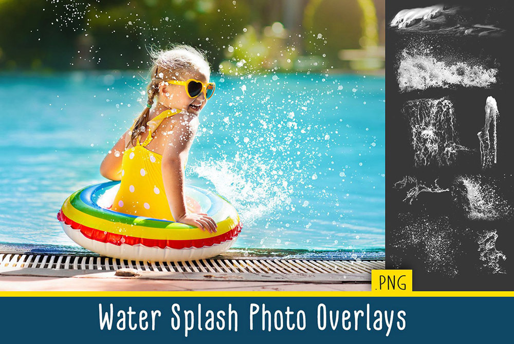 【S650】 高清海浪浪花瀑布水花飞溅摄影后期叠加合成素材32张PNG
