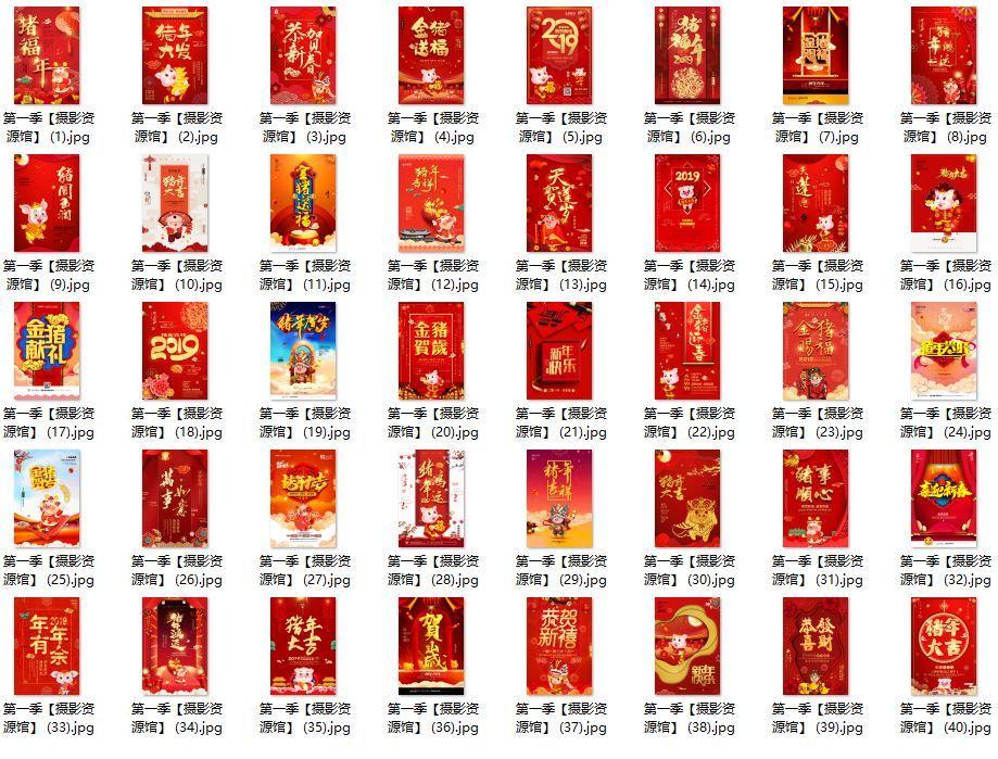 【S593】2019猪年精品促销海报PSD素材大合集