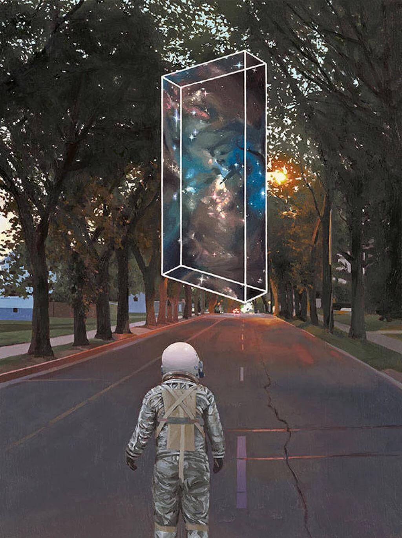 有什么宇航员主题的壁纸或者插画?