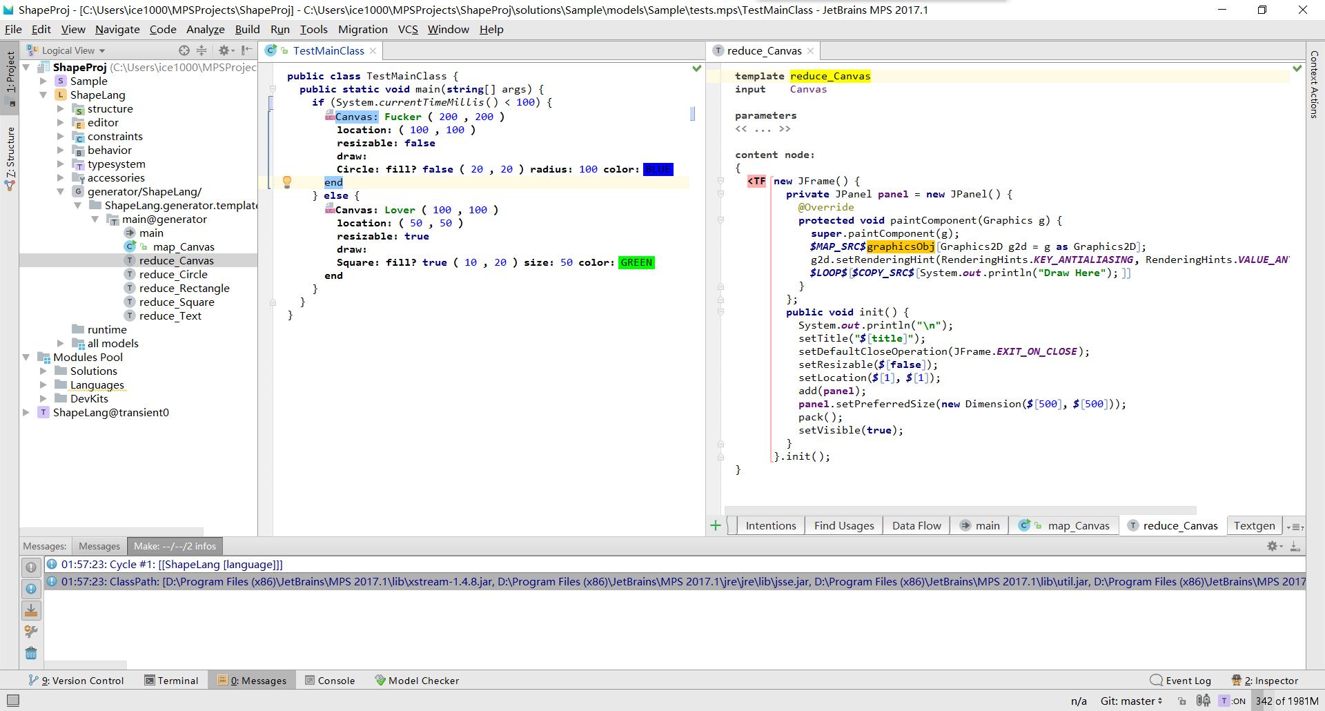 MPS教程(五)把之前的语言嵌入Java