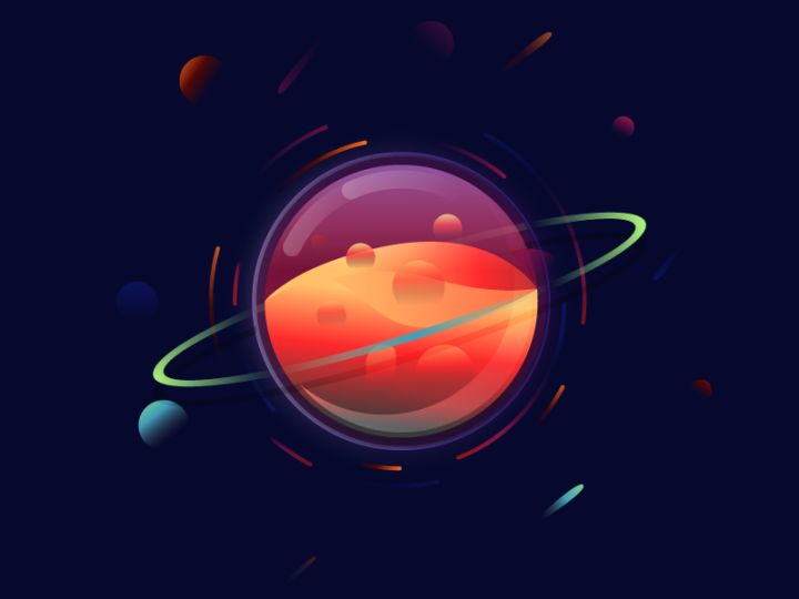 drawings of planets animation - photo #23