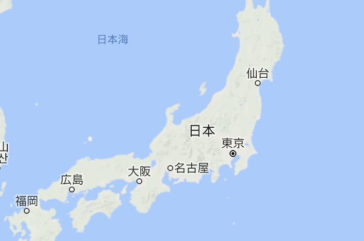 不用翻墙就能使用的日本地图