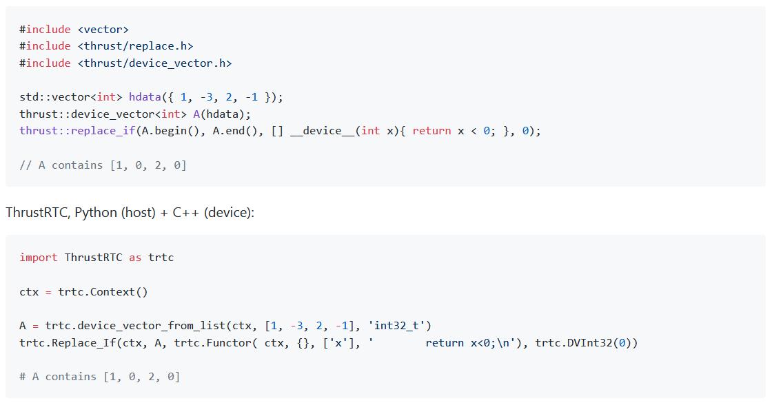 在Python里寻求Thrust是否搞错了什么