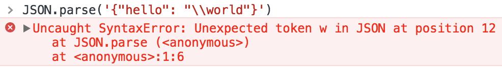 从一个JSON parse 错误深入研究JavaScript 的转义字符- 知乎
