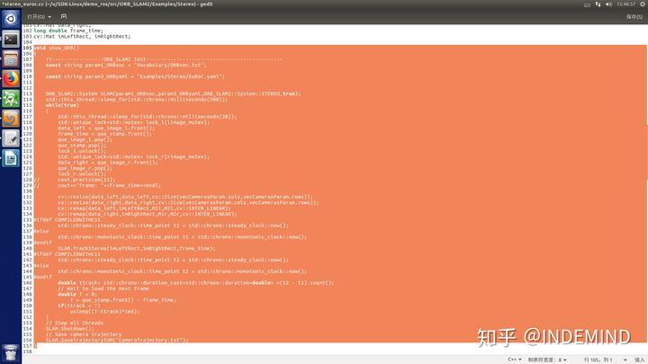 从零开始丨INDEMIND双目惯性模组ROS平台下实时ORB-SLAM记录教程
