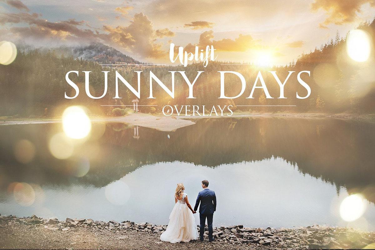 【S599】照片氛围营造素材太阳光斑高清纹理+动作 Sunny Days Sun Flare Overlays