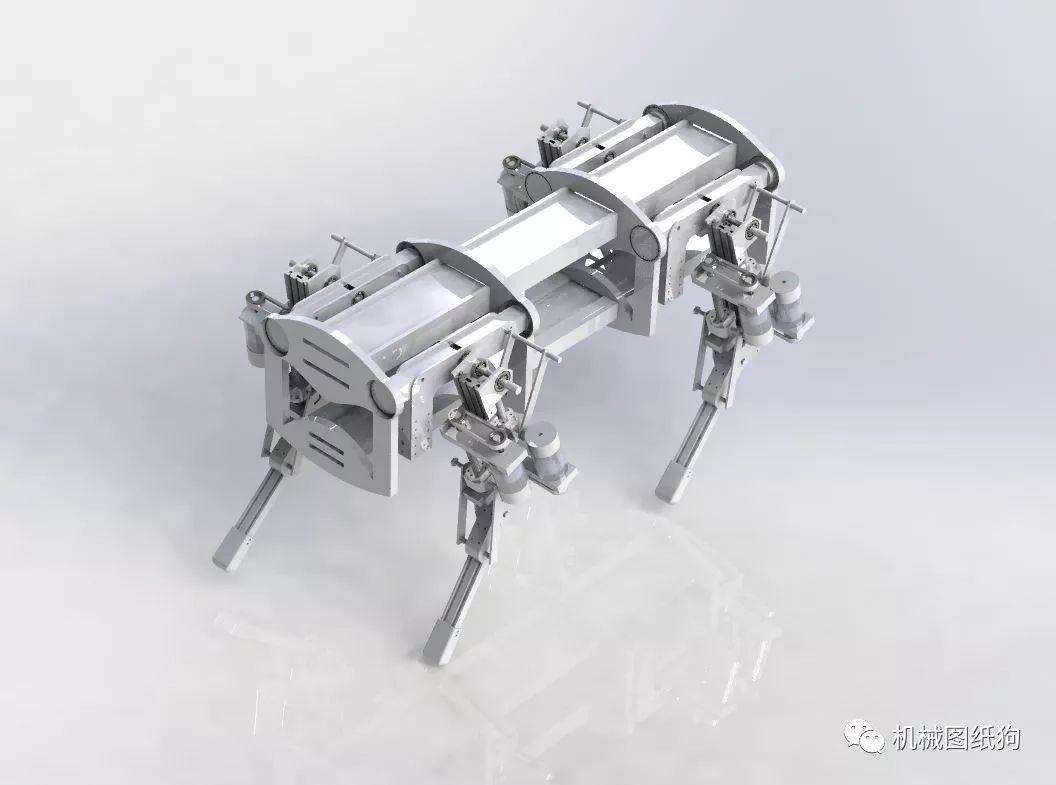 【機器人】仿波士頓動力機器人機械狗結構模型3d圖紙