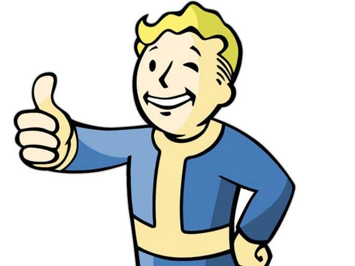 性哎卡通_在辐射fallout系列游戏里,人见人爱的避难所小人,这个标志性的动作是