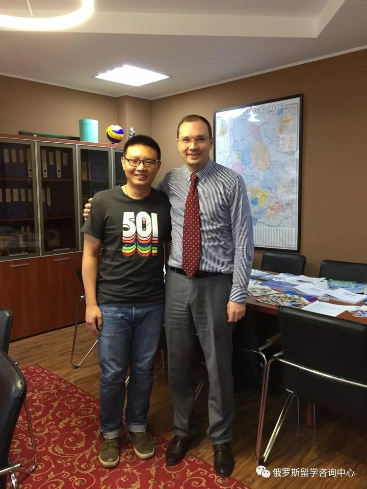 2017年5月和罗曼副校长会面