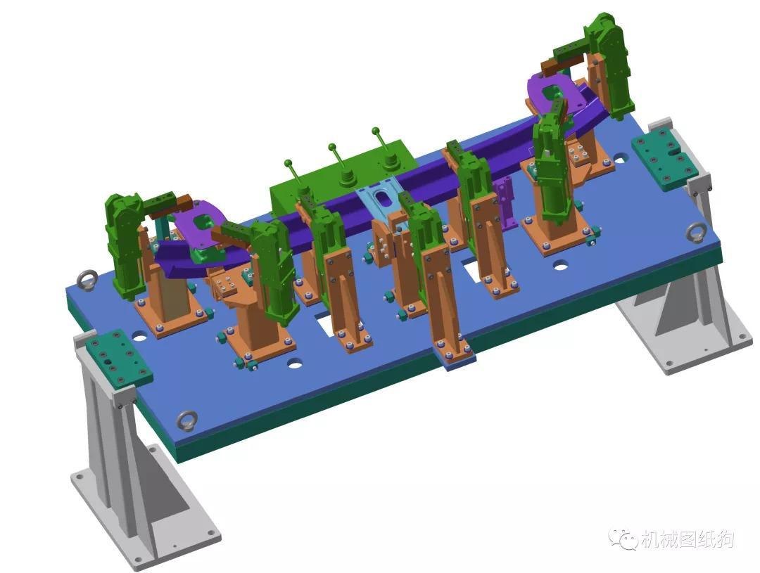 【工程機械】機器人焊裝夾具3d模型圖紙 catia設計