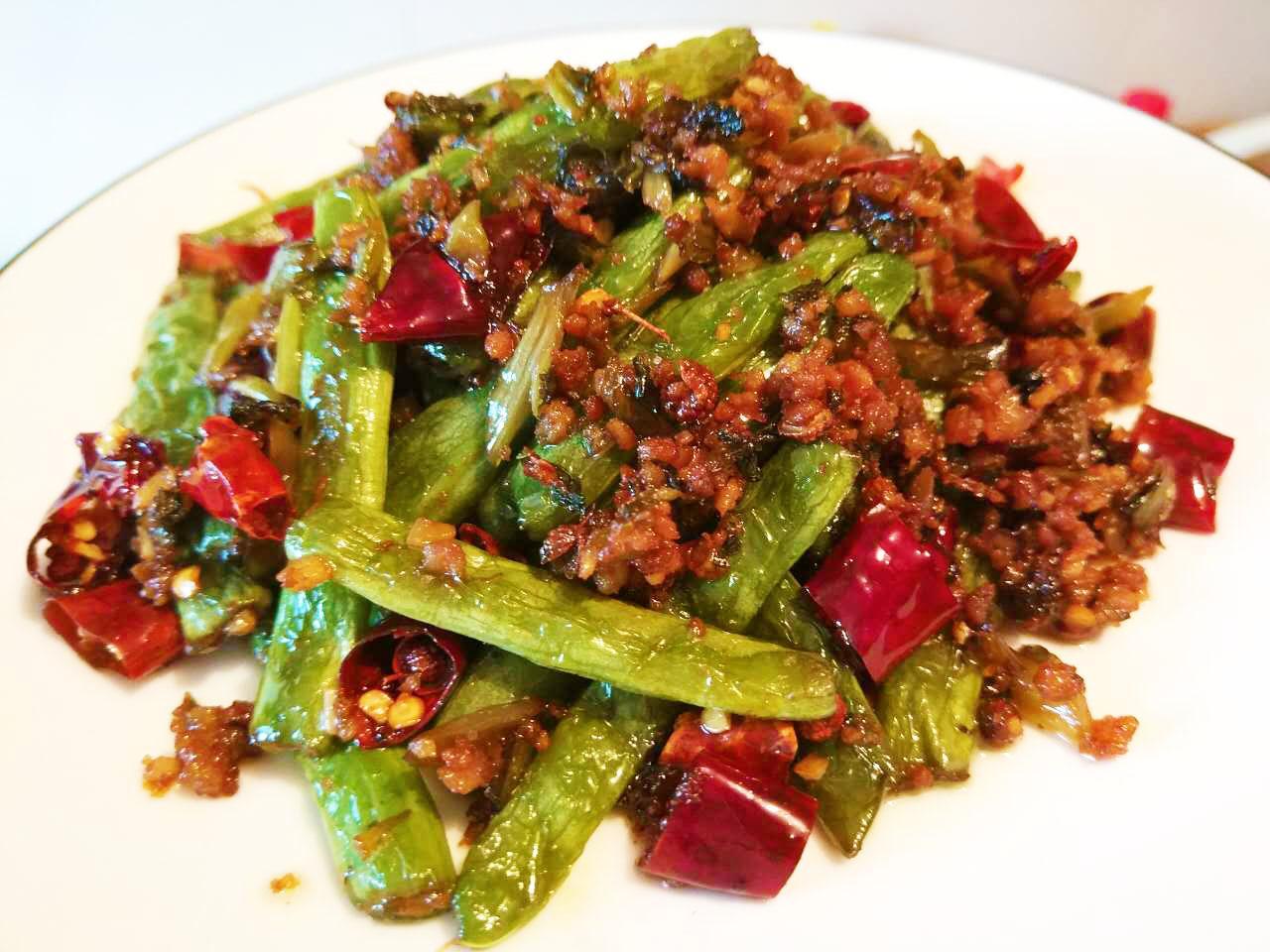 重口味素菜——干锅花菜、干煸四季豆