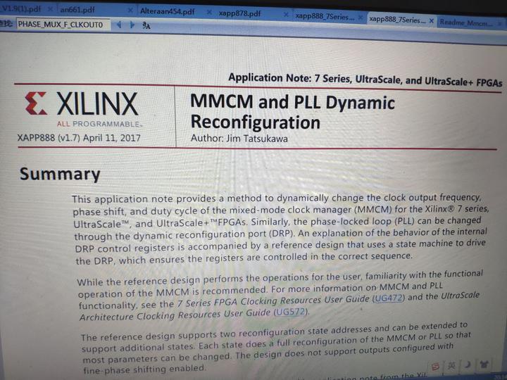 xilinx的7系列FPGA的PLL可充配置功能是如何计算各个寄存器的值的