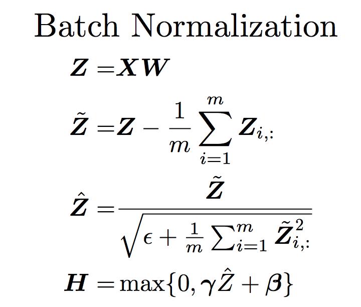 Batch Normalization深度学习第八章(二)