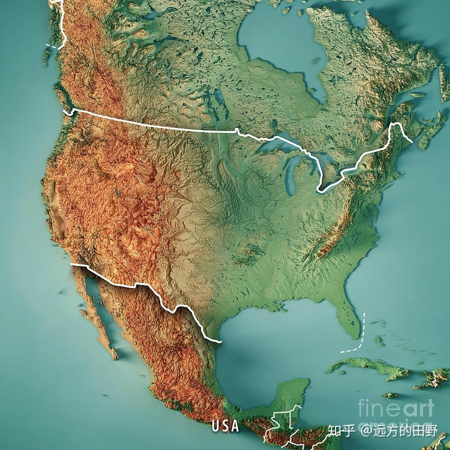 美国高清卫星地图_3D立体中国地势图——10M高清大图 - 知乎